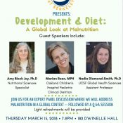 CHECK OUT Amy's Panel on Malnutrition at UC Berkeley on March 15, 2018